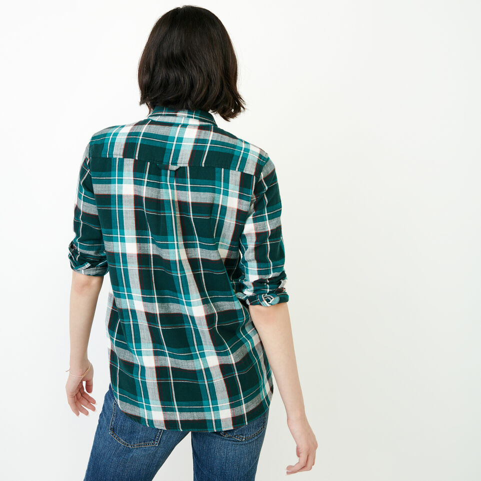 Roots-Women Tops-All Seasons Relaxed Shirt-Varsity Green-D