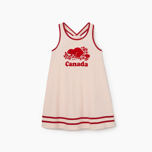 Roots-Kids New Arrivals-Girls Canada Tank Dress-English Rose-A