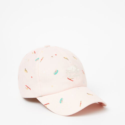 Roots-Women Accessories-Cooper Print Baseball Cap-Pale Blush-A