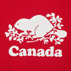 Roots-New For July Women-Womens Cooper Canada T-shirt-Sage Red-C