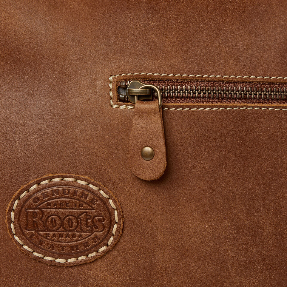 Roots-Leather  Handcrafted By Us Our Favourite New Arrivals-Small School Bag-Natural-E