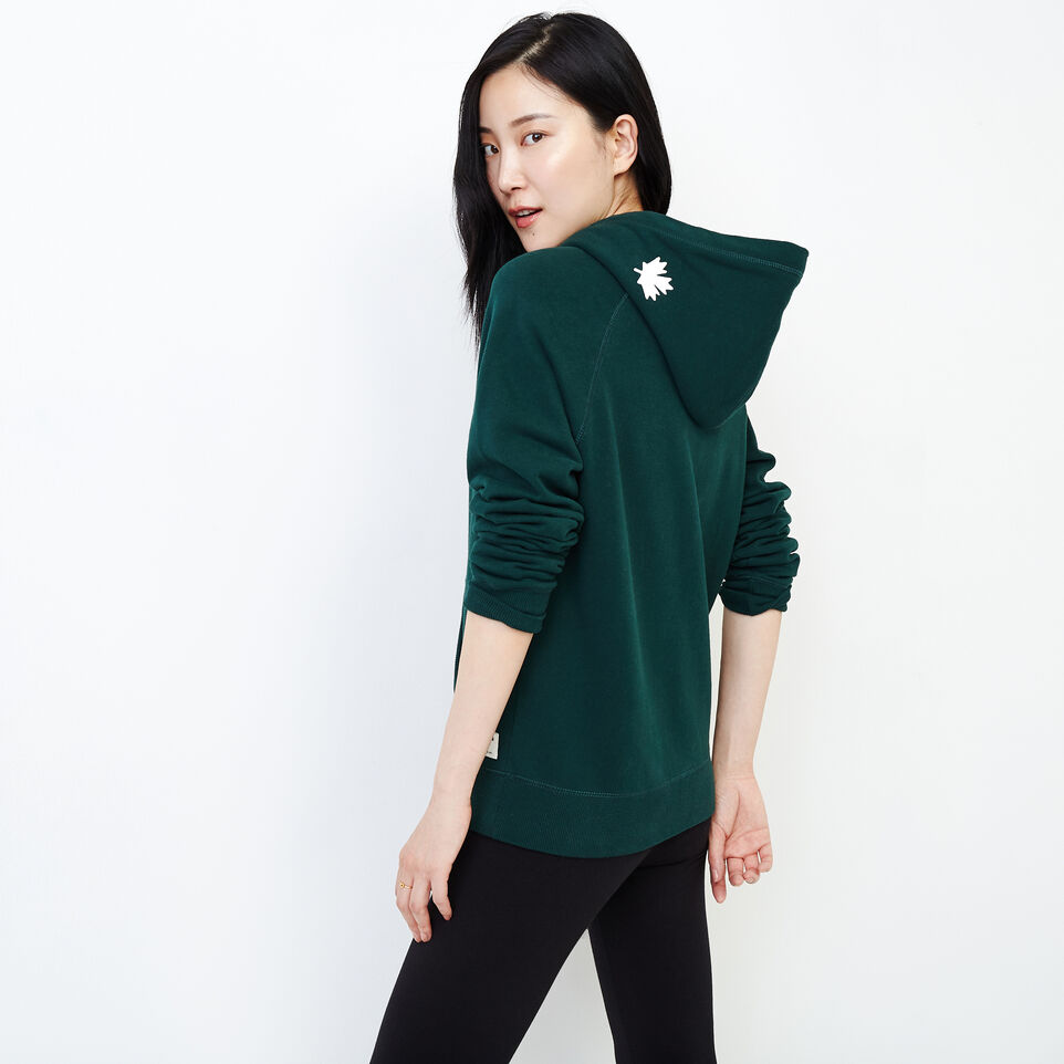 Roots-Women Our Favourite New Arrivals-Original Kanga Hoody-Varsity Green-D