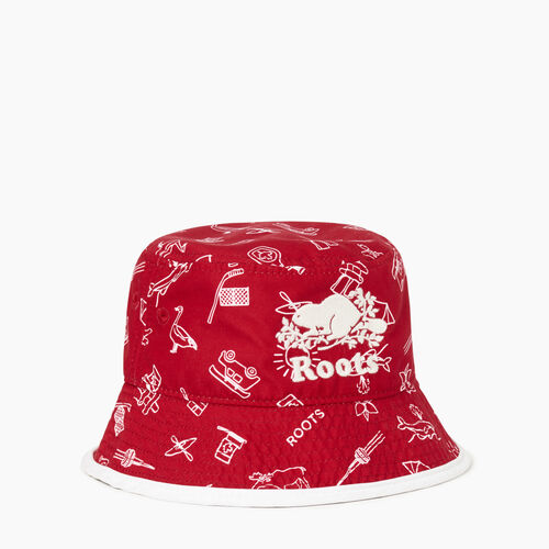 Roots-Kids Our Favourite New Arrivals-Toddler Canada Aop Bucket Hat-Multi-A