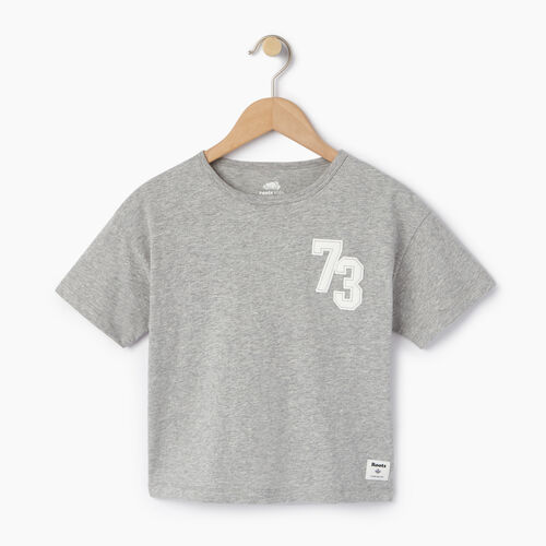 Roots-Kids Our Favourite New Arrivals-Girls Esher T-shirt-Grey Mix-A
