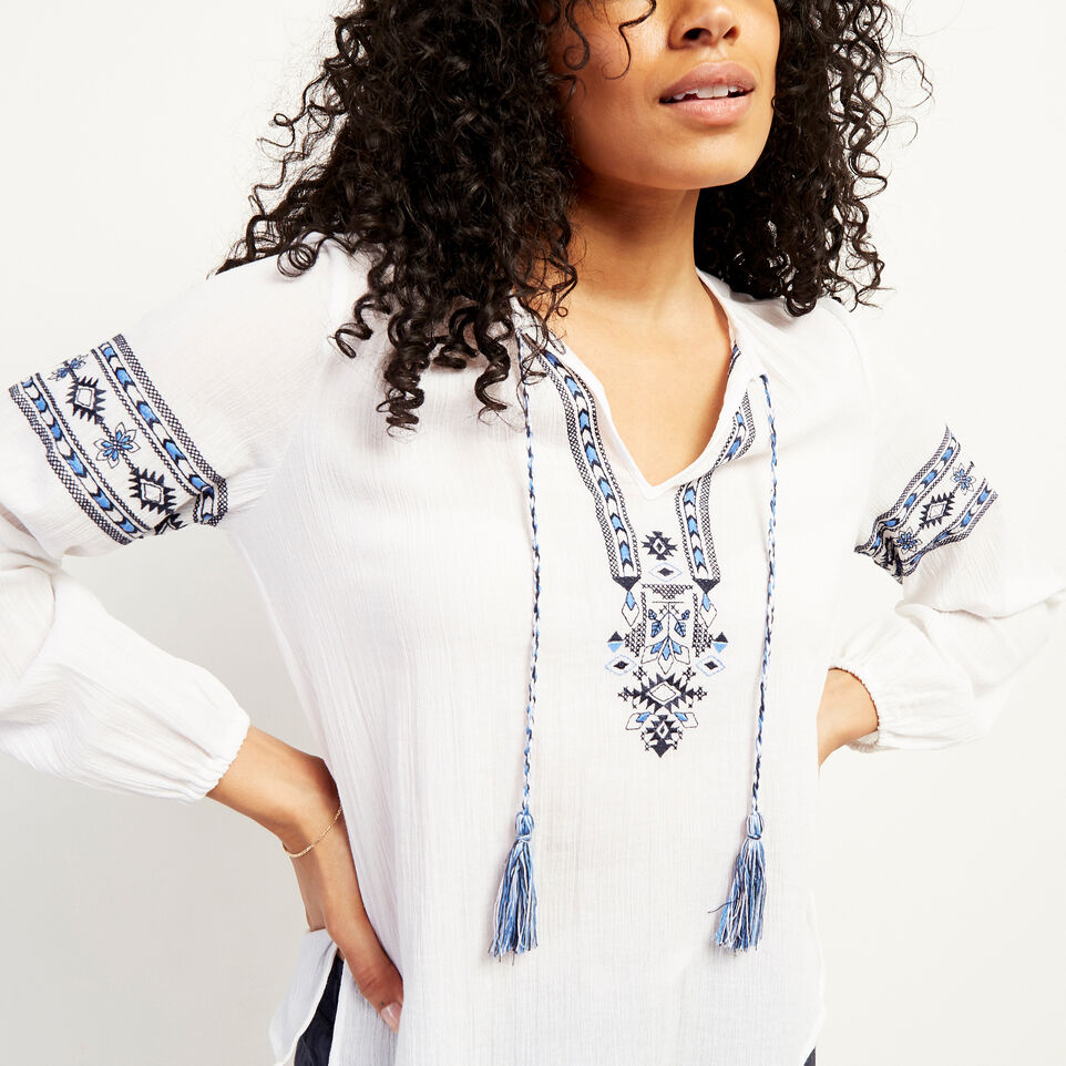 Roots-undefined-Rimby Embroidered Peasant Top-undefined-E