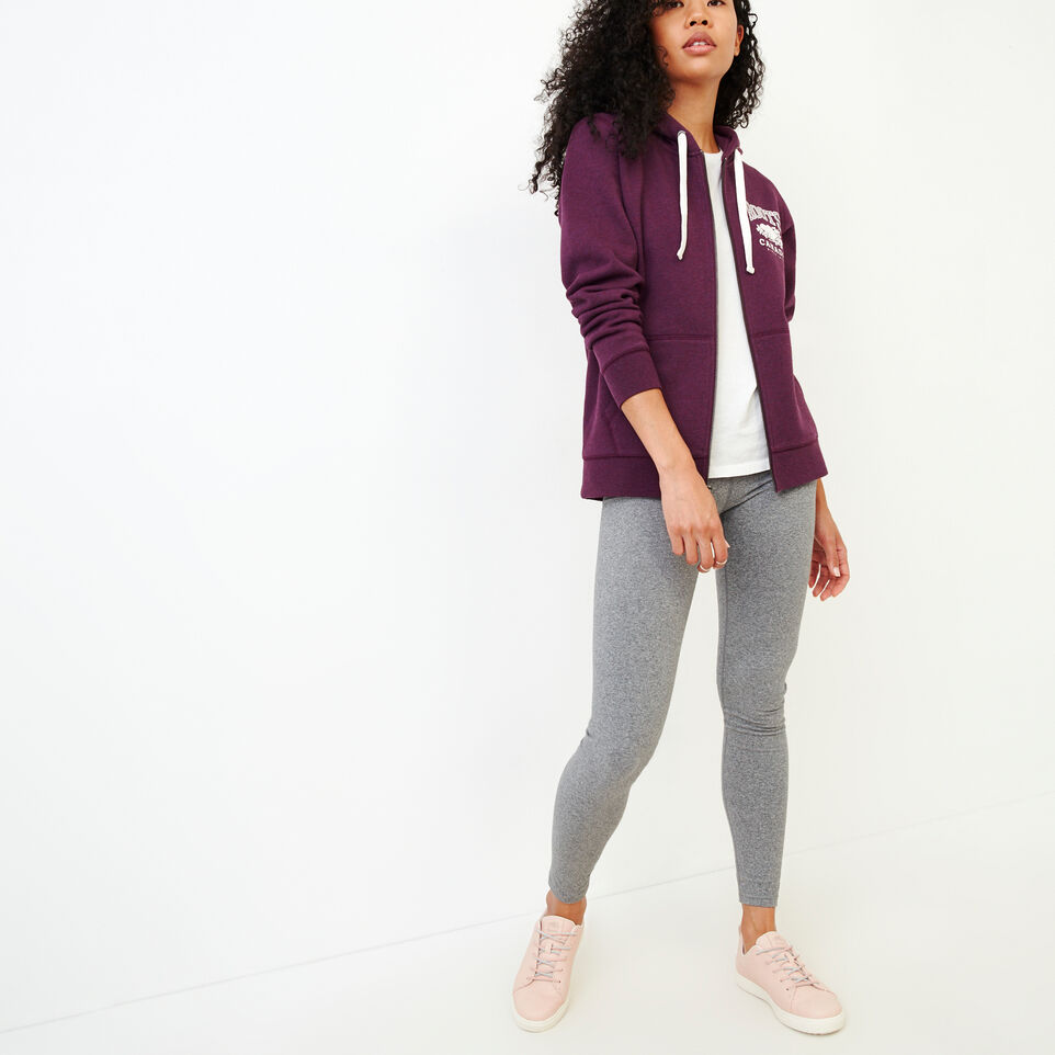 Roots-Women Clothing-Classic Full Zip Hoody-Pickled Beet Mix-B