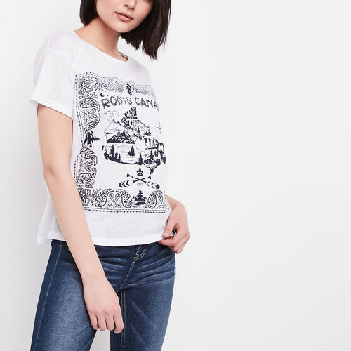 Roots-Sale 30-40% Off-Kora Top-White-A
