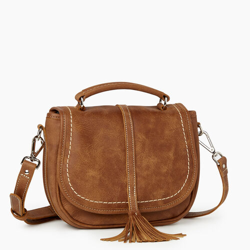 Roots-Leather New Arrivals-Catalina Saddle Bag Tribe-Natural-A