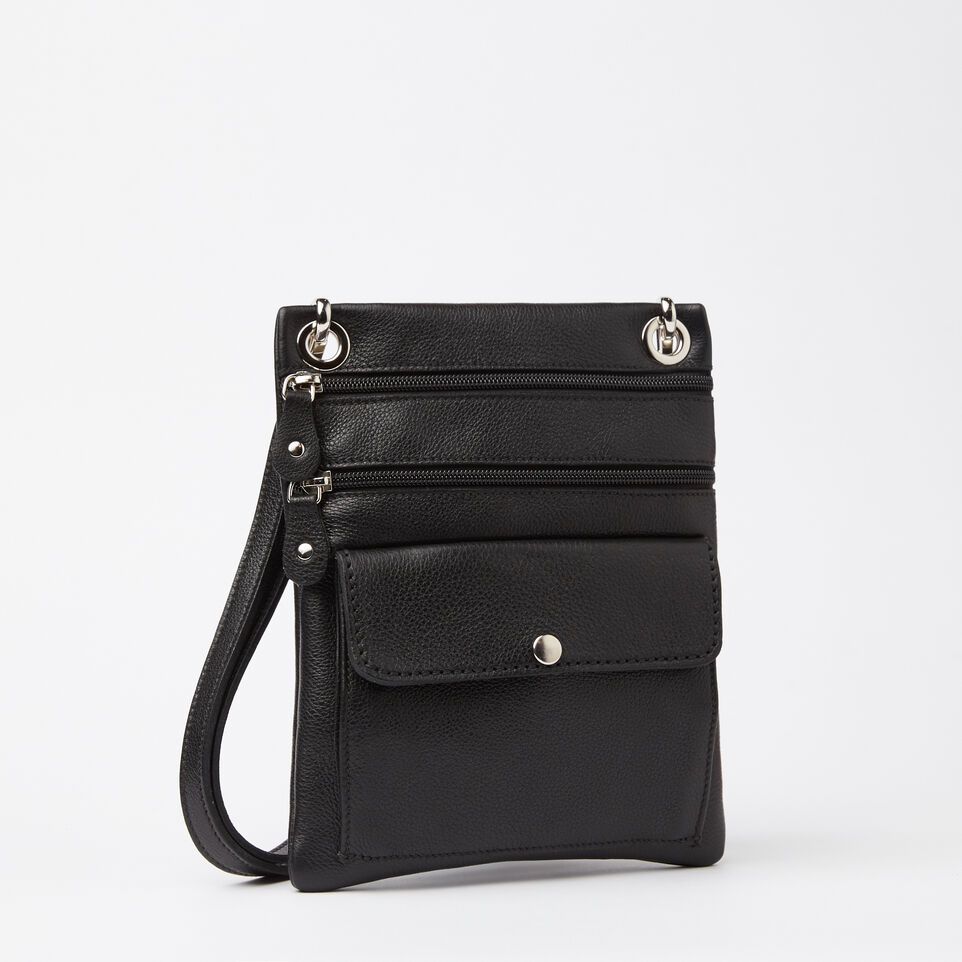 Roots-Leather Handbags-Urban Pouch Prince-Black-A