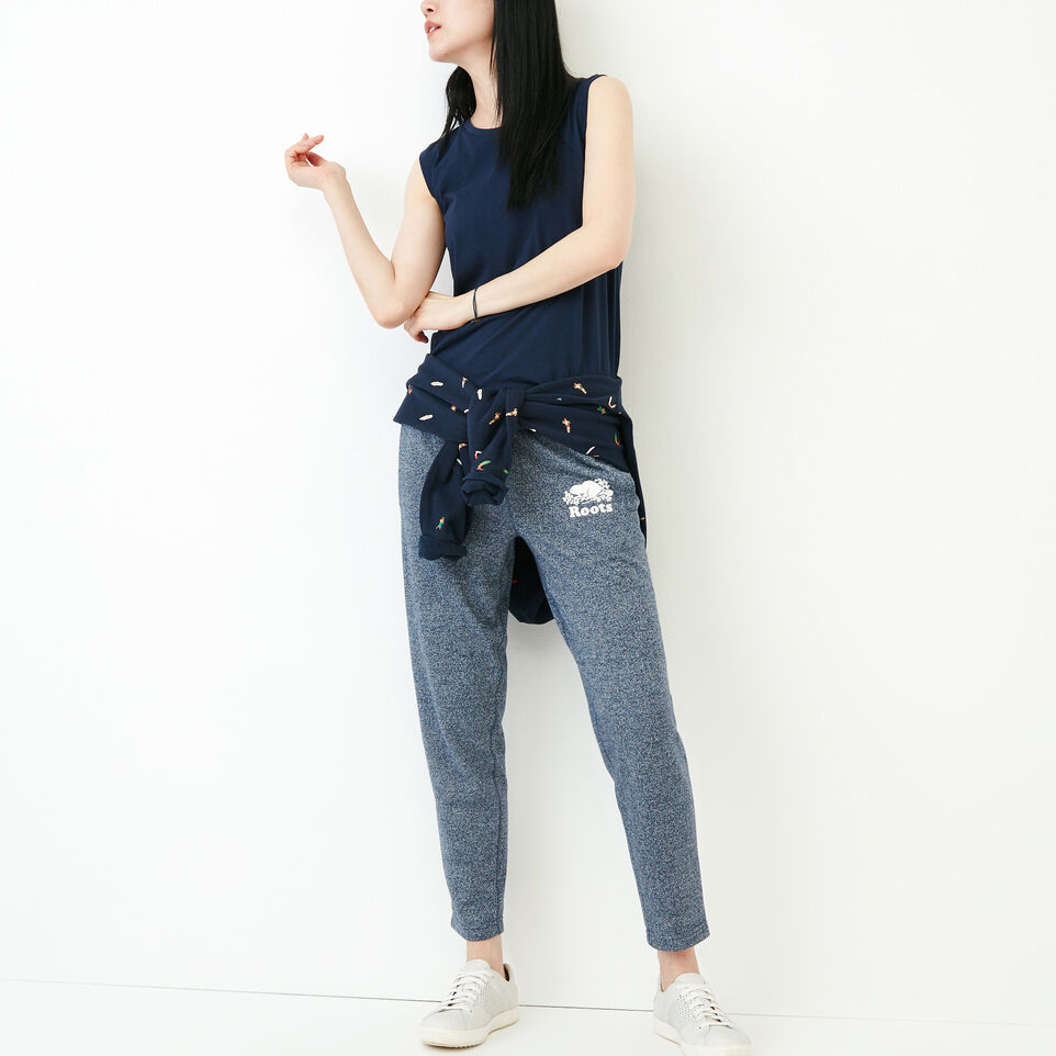 Roots-Women Clothing-Roots Ankle Sweatpant-Navy Blazer Pepper-B