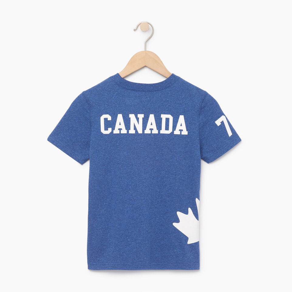 Roots-Kids Boys-Boys Bedford T-shirt-Active Blue Mix-B
