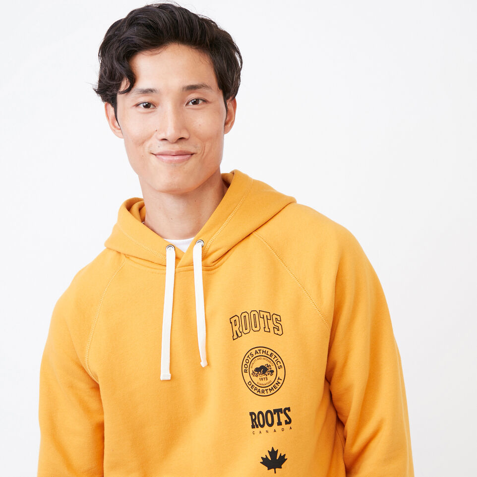 Roots-Men Our Favourite New Arrivals-Stamps Kanga Hoody-Squash Yellow-E