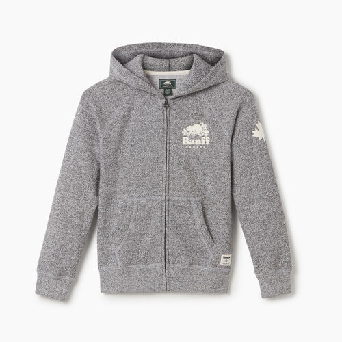 Roots-New For May City Collection-Boys Banff Ski City Full Zip Hoody-Salt & Pepper-A