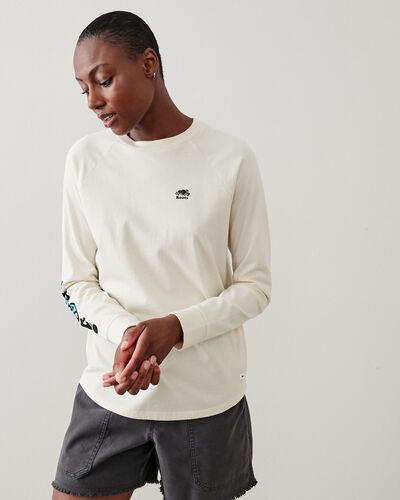 Roots-New For This Month Diy Collection-Womens Roots Peace Long Sleeve T-shirt-Natural-A