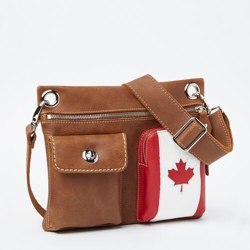 Roots-New For May Leather-Village Bag Canada Tribe-Natural-A