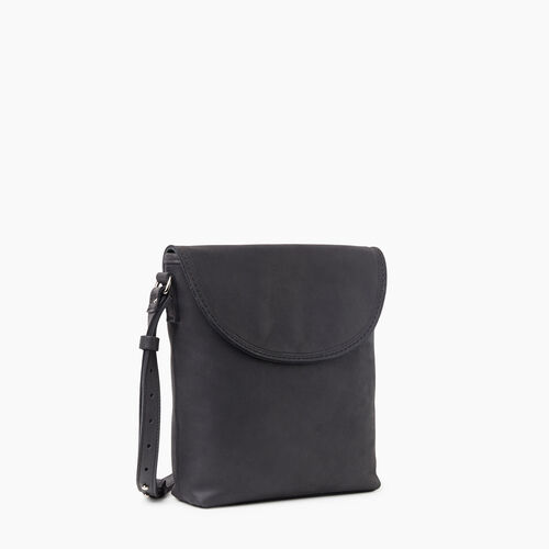 Roots-Leather Crossbody-Canmore Flat Tribe-Jet Black-A