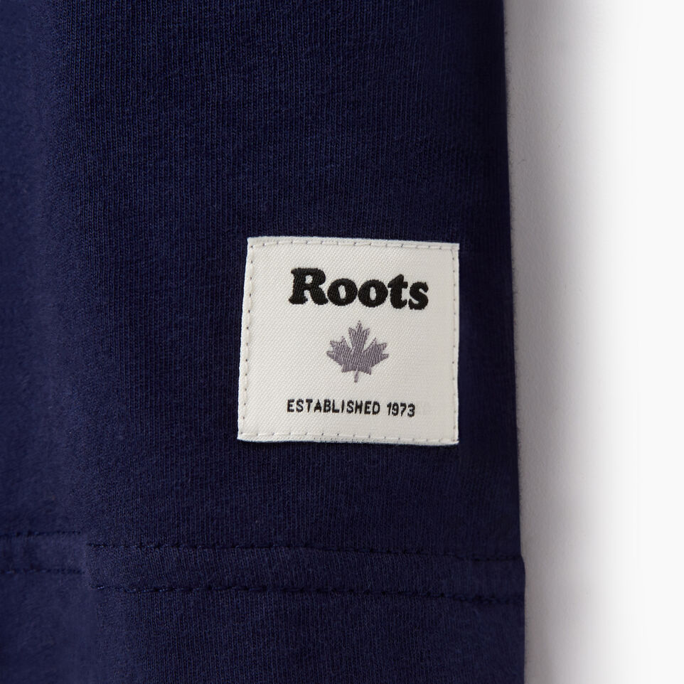 Roots-Men New Arrivals-Mens Centre Ice T-shirt-Starnight Blue-C