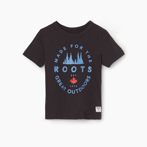 Roots-Kids New Arrivals-Toddler Great Outdoors T-shirt-Charcoal-A