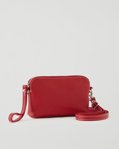 Roots-Leather New Arrivals-Christie Crossbody Cervino-Lipstick Red-A