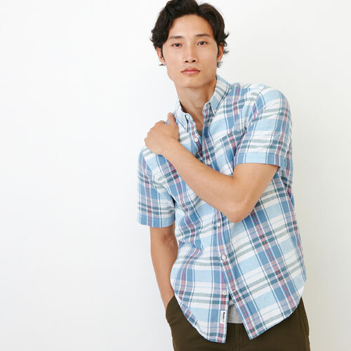 Roots-Men Shirts & Polos-Shorepine Madras Shirt-Infinity-A