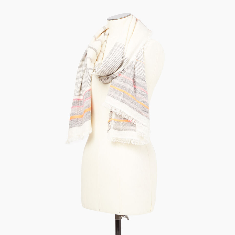 Roots-Women Our Favourite New Arrivals-Wasaga Scarf-Multi-B
