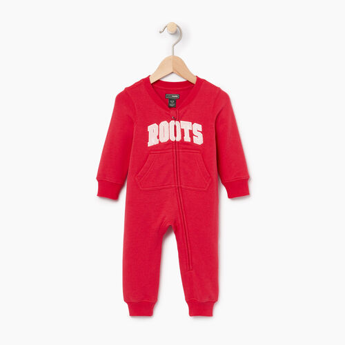 Roots-Kids Categories-Baby Roots Varsity Romper-Chrysanthemum-A