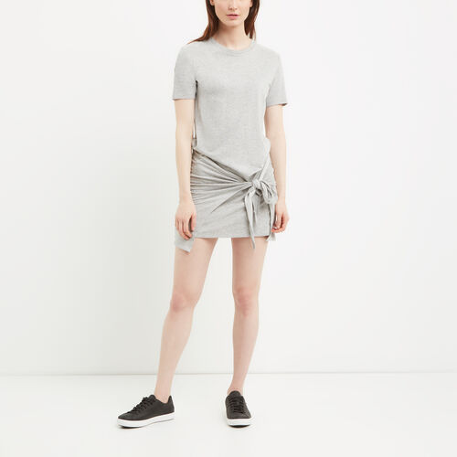 Roots-Sale Women-French Terry Tie Dress-Grey Mix-A