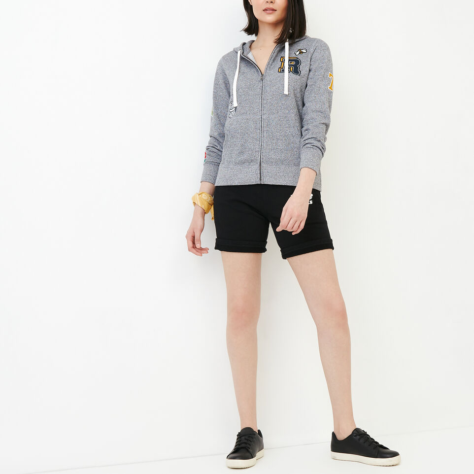 Roots-Women Our Favourite New Arrivals-Patches Full Zip Hoody-Salt & Pepper-B