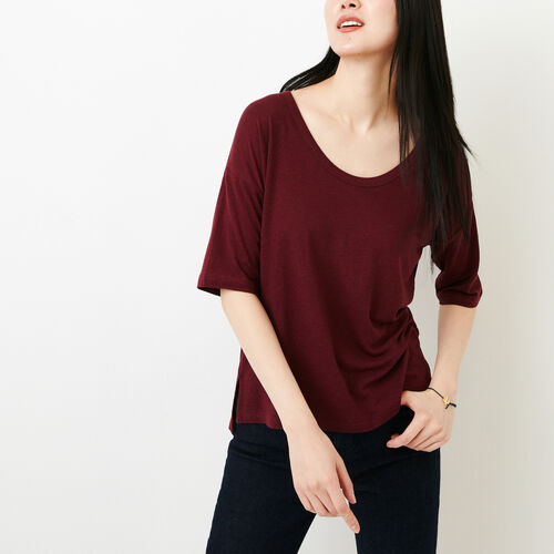 Roots-Women Tops-Nicolet Top-Northern Red-A