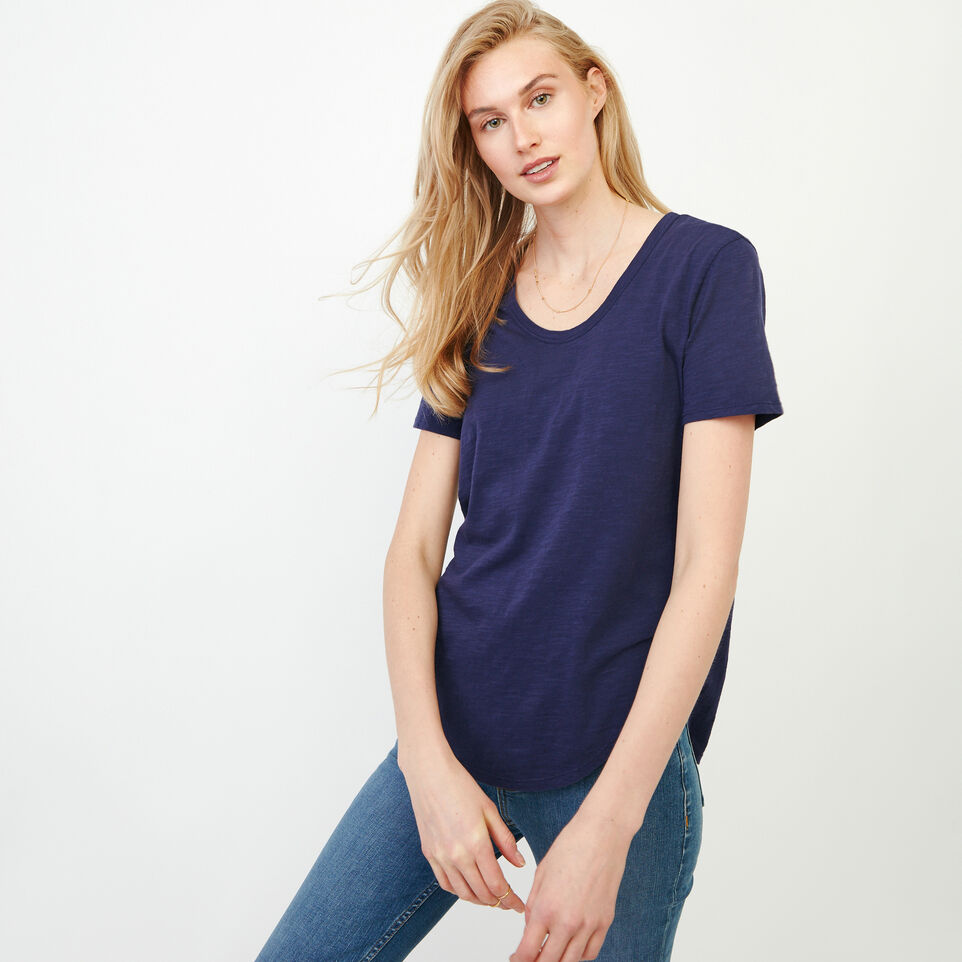 Roots-Women Our Favourite New Arrivals-Valetta Scoop Neck Top-Eclipse-A