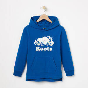 Roots-Kids Tops-Boys Heavyweight Jersey Hoody-Classic Blue-A