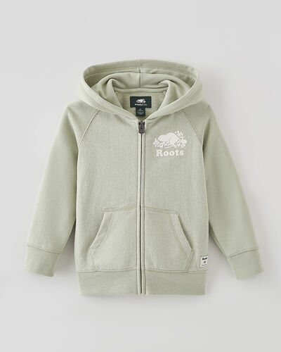 Roots-Sweats Toddler Girls-Toddler Original Full Zip Hoody-Desert Sage Pepper-A