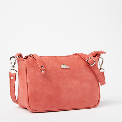 Roots-Women Crossbody-Andie Bag Tribe-Coral-A