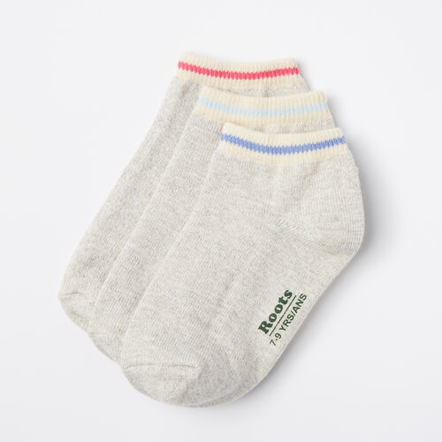 Roots-Kids Accessories-Kids Cabin Ped Sock 3 Pack-Grey Mix-A
