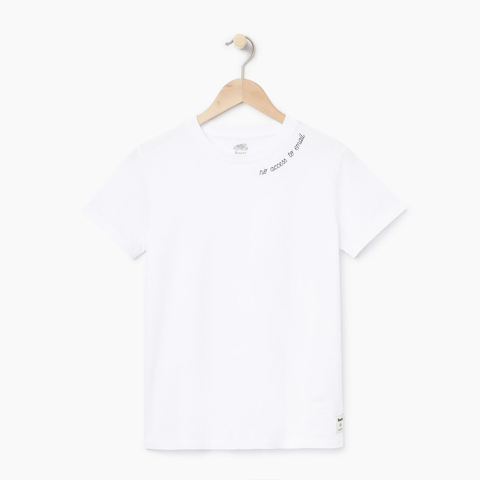 Roots-New For July Daily Offer-Womens Communication T-shirt-Crisp White-A