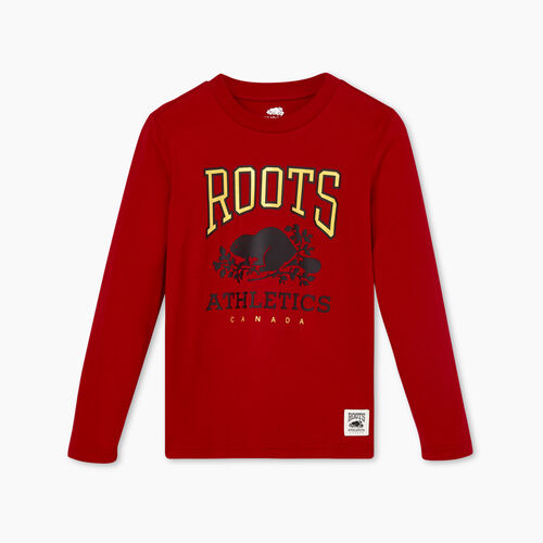 Roots-Kids Boys-Boys RBA T-shirt-Cabin Red-A