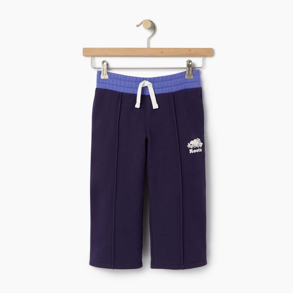 Roots-Clearance Kids-Girls Colour Block Sweatpant-Eclipse-A