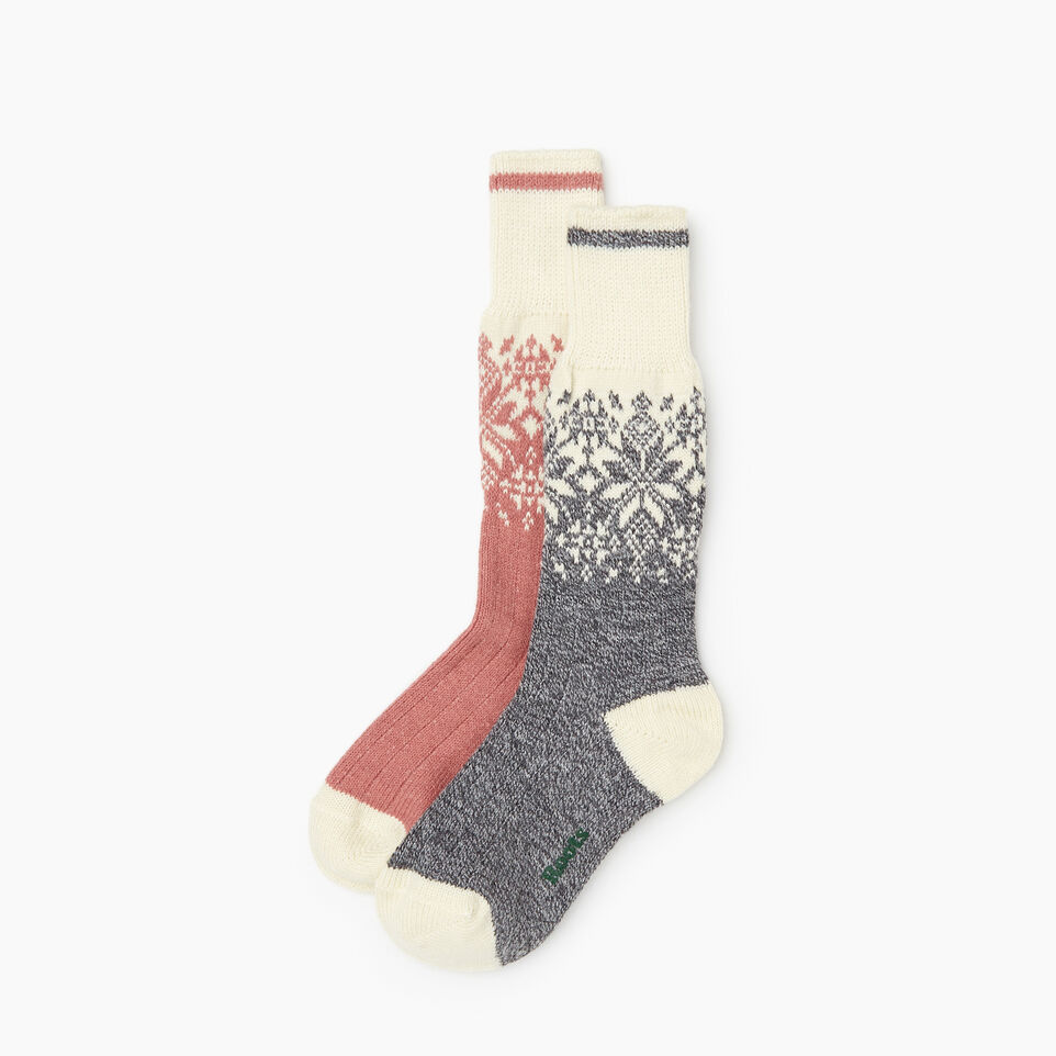 Roots-Women Socks-Roots Elsa Cabin Sock 2 Pack-Pink-B