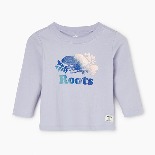 Roots-Sale Kids-Baby Sparkle T-shirt-Cosmic Sky-A
