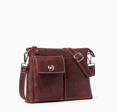 Roots-Leather Crossbody-The Villager Tribe-Crimson-A