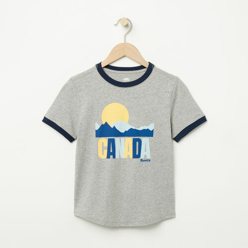 Roots-Sale Boys-Boys Vintage Ringer T-shirt-Grey Mix-A