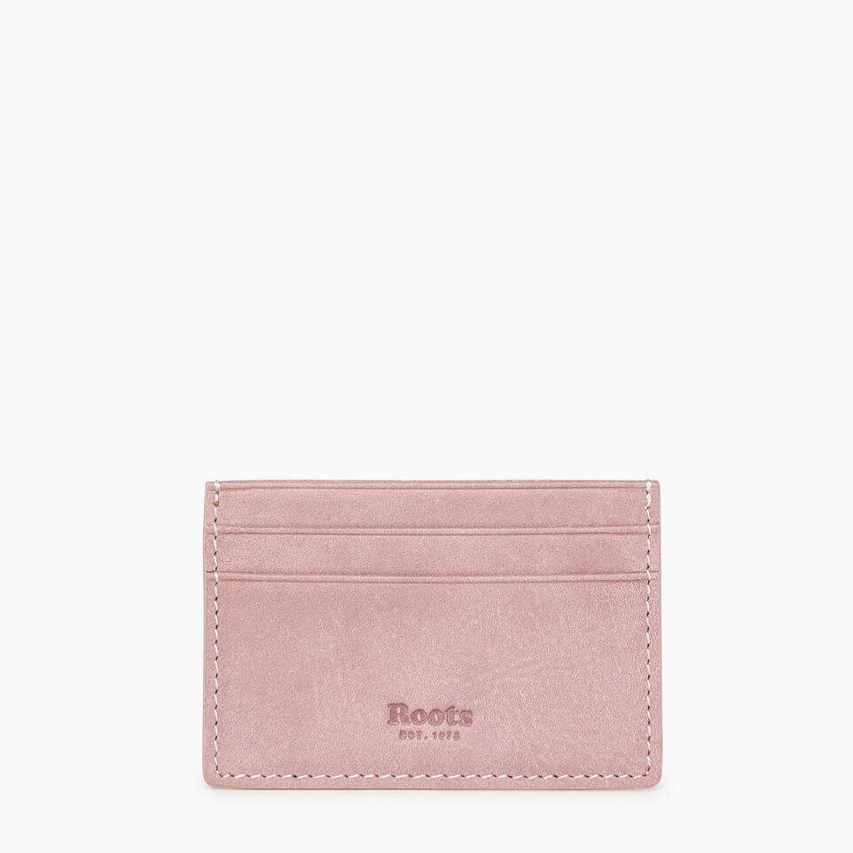 Roots-Leather New Arrivals-Card Holder Tribe-Woodrose-A