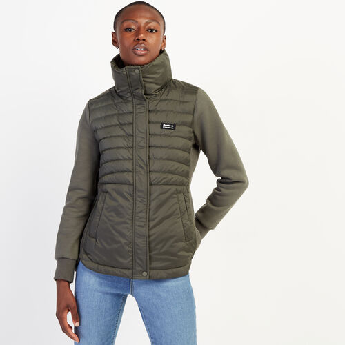 Roots-New For September Women-Journey Hybrid Jacket-Loden-A