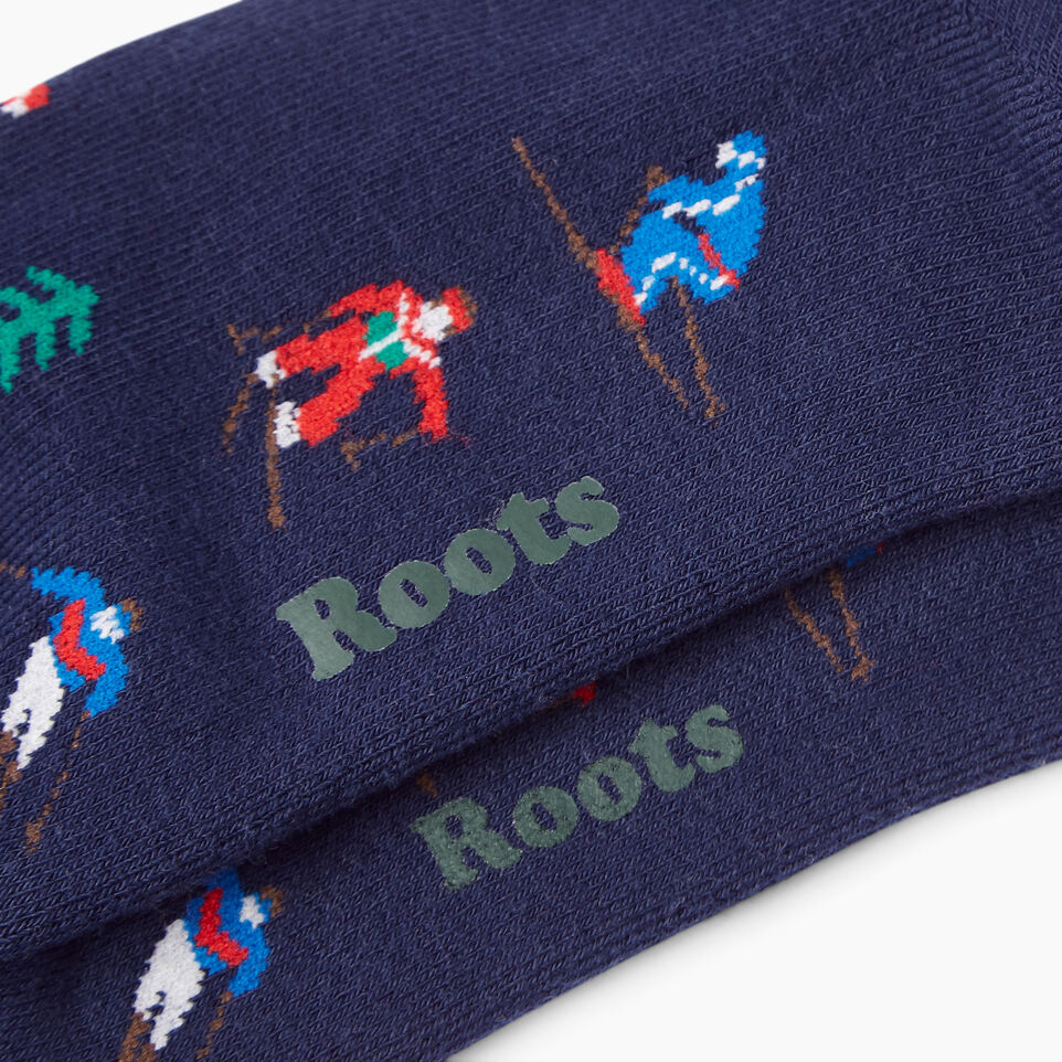 Roots-Women Our Favourite New Arrivals-Womens Slopes Boot Sock-Navy-C