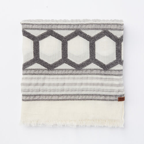 Roots-Sale Accessories-Jenny Scarf-Pearl Grey-A