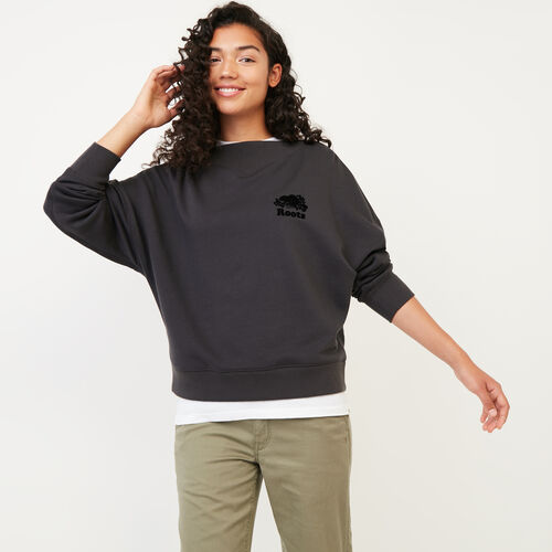 Roots-Women Our Favourite New Arrivals-Chevron Crew Sweatshirt-Phantom-A