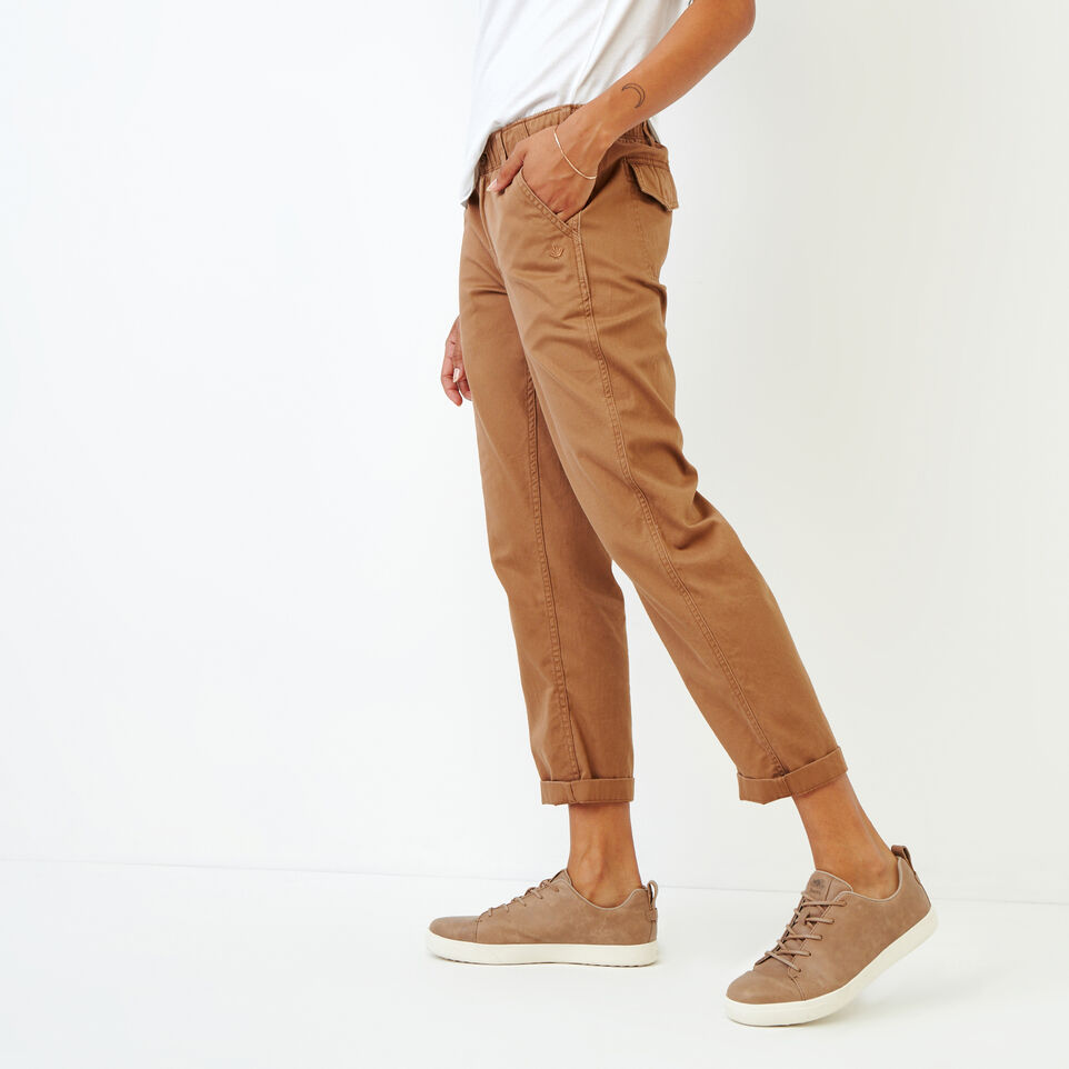 Roots-Women Bottoms-Bedford Slim Chino-Toasted Coconut-C