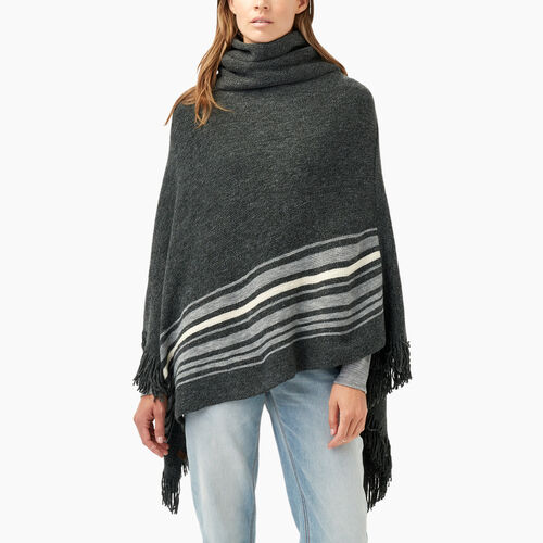 Roots-Winter Sale 30-40% Off - View All-Francis Poncho-Black Mix-A