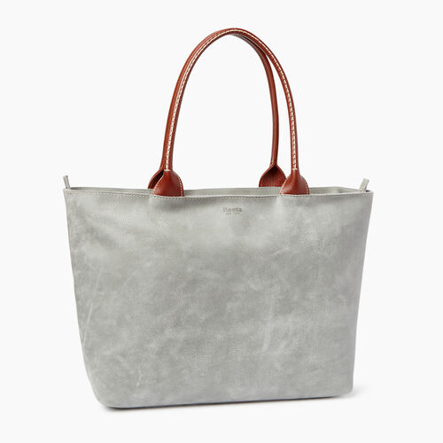Roots-Leather  Handcrafted By Us Our Favourite New Arrivals-Mont Royal Tote-Quartz/oak-A