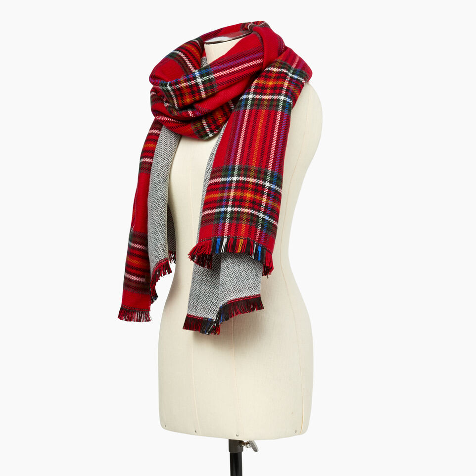 bf41a19564772 Harvest Plaid Scarf. Roots-Women Scarves & Wraps-Harvest Plaid Scarf-Cabin  Red- ...
